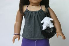 18 inch Doll Clothes Pattern: Malibu Halter   Liberty Jane Doll Clothes Patterns For American Girl Dolls