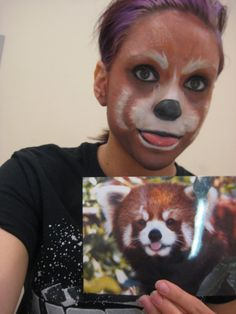 Red panda makeup! What a great idea for the wedding day! This ...