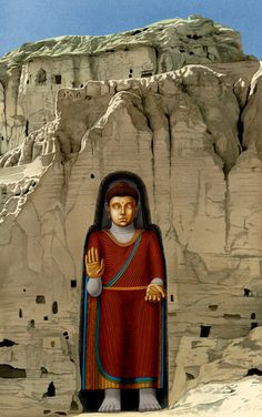 """ANCIENT METAPHYSICS AT WORK IN THE CENTER OF AFGHANISTAN Bamiyan Buddha. By Victoria L. Ward, Bsc.M. """"Mind Metaphysics""""   WARD METAPHYSICS"""