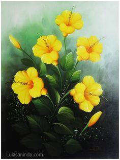 Hibiscus painting (www.lukisanindo.com)