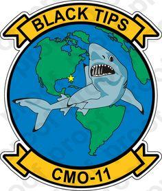 M.C. Graphic Decals - STICKER USN CMO 11 BLACK TIPS, $3.00 (http://www.mcgraphicdecals.com/sticker-usn-cmo-11-black-tips/)