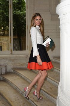 Olivia Palermo - Valentino Fall 2014 Couture Front Row - Red Carpet Fashion Awards