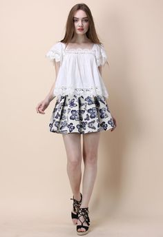 Fond for Butterflies Pleated Skirt - Retro, Indie and Unique Fashion