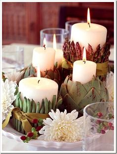 So beautiful. I just found this great idea for a centerpiece during the fall season