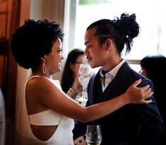 Natural Hair ~ Wedding Day! // ohh if only this were me and a certain someone who will go unnamed...