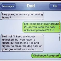 Challenge accepted  #lol #laughtard #lmao #funnypics #funnypictures #humor  #challenge #funnytexts #dad