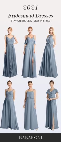 Grace is an elegant spaghetti strap chiffon dress. The special tender square neck shows your charming neck. This dress looks airy and floating. Come and visit babaroni.com, choose from 66+ colors & 500+ styles. #bridesmaiddresses#wedding#babaroni #weddingideas