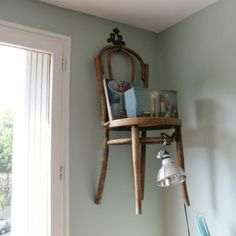 a chair on the wall