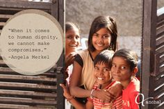"""When it comes to human dignity, we cannot make compromises."" -Angela Merkel #wordstoinspire"