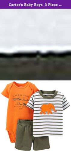 Carter's Baby Boys' 3 Piece Striped Layette Set (Baby) - Elephant - 12 Months. Carter's 3 Piece Striped Layette Set (Baby) - Elephant Carter's is the leading brand of children's clothing, gifts and accessories in America, selling more than 10 products for every child born in the U.S. Their designs are based on a heritage of quality and innovation that has earned them the trust of generations of families.Features:Set includes 1 short-sleeve bodysuit, 1 short-sleeve striped tee and 1…