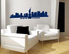 #Wandtattoo Skyline No.SF490 #New #York Skyline #Skyline #Skylines #Traumstadt #Urbanes #Flair #City #Life #Großstadt #Feeling #Wandgestaltung #Deko #Bilder