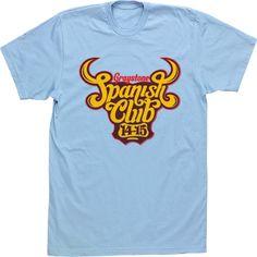 Bull Horn Font Custom Spanish Club Español Espanol T-shirt Tee High School Design