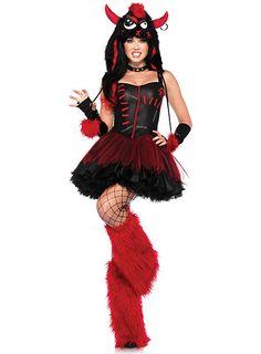 Sexy Punkmonster Kostüm #halloween #costume #dress #red #punk #sexy #black