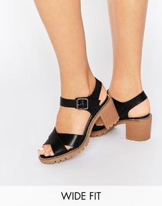 Image 1 of New Look Wide Fit Heeled Strappy Sandal