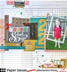 School Scrapbook Layouts, School Days, Paper, Boys, Fun, Baby Boys, Senior Boys, Sons, Guys