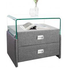 SOLDES - Table de nuit design en mdf coloris anthracite - Chevet - Chambre Adulte - CHAMBRE