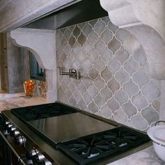 www.carolinawholesalefloors.com has more flooring and design options OR check out our Facebook! backsplash tile - walker zanger contessa arabesco - Google Search