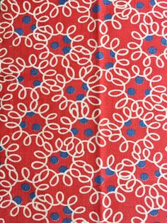 """Green /& Red Upholstery Braid 10 mm /""""Hibiscus/"""" Ivory sold by the Metre"""