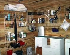 Really awesome tack room.  I love this idea.  Dust would fall through rather than collect.