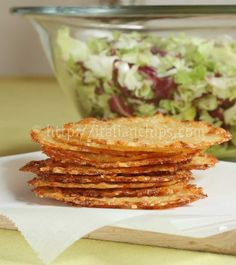 Parmesan baskets with it to serve individual salad portions (as soon as you take it out of the oven, place it onto an upside down cup and it will solidify with that shape).  Ingredients      ½ cup of grated zucchini     1 cup of grated Parmesan     grated Pepper