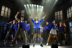 Carrie Hope Fletcher as Veronica Sawyer with artists of the company in the stage production Heathers The Musical directed by Andy Fickman at Theatre Royal Haymarket on September 2018 in London,. Get premium, high resolution news photos at Getty Images Broadway Theatre, Musical Theatre, Veronica Sawyer Costume, Theatre Royal Haymarket, Carrie Hope Fletcher, Musical London, Heathers The Musical, Music Of The Night, Love To Meet