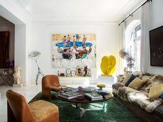 See the Vibrant Interior of Maria Lladó in Madrid via @MyDomaine