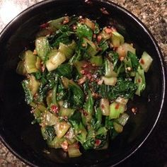 Spicy Bok Choy in Garlic Sauce - YUM! The garlic sauce is so good!