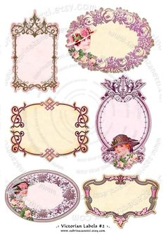 Instant Download  Digital collage sheets  VICTORIAN por JLeeloo, $3.60
