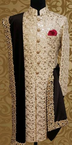 Couple Questions To Get To Know Each Other Sherwani For Men Wedding, Wedding Dresses Men Indian, Wedding Outfits For Groom, Groom Wedding Dress, Sherwani Groom, Wedding Suits, Punjabi Wedding, Indian Weddings, Wedding Attire