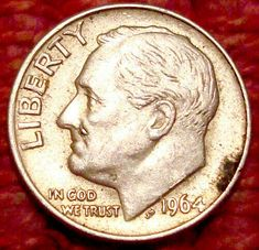 1964 P Roosevelt Dime 90/% Silver VG Circulated Condition
