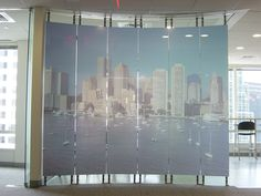 Modernfold Moveable Glass Walls - HSW-GP Single-Point Fitting System