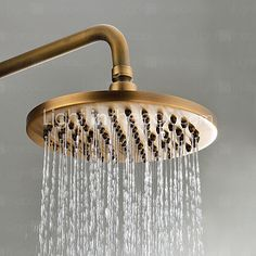 Sprinkle® by Lightinthebox - Antique Brass Tub Shower Faucet with 8 inch Shower Head + Hand Shower - USD $ 144.49