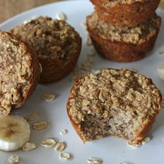 Healthy Banana Muffins via @Tone G It Up Karena & Katrina