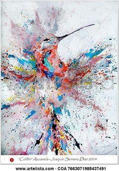 Comprar Colibri - Pintura de Joaquin Serrano Diaz desde 404 ARS (2015/03/21) en Artelista.com, con gastos de envío y devolución gratuitos a todo el mundo