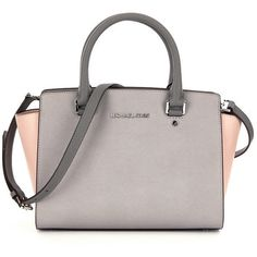 MICHAEL Michael Kors Selma Medium Satchel ($298) ❤ liked on Polyvore featuring bags, handbags, white purse, medium satchel handbags, medium satchel, white handbags and white bags