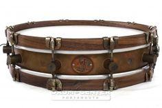 A&F Limited Edition Raw Brass/Walnut Snare Drum 15x3.5