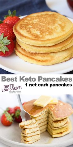 The Best Keto Pancakes recipe that has ever been made in our household! Just this keto pancake mix is so easy to whip together. Sunday morning pancakes will become a normal here on out. 👉 Try our new program (the 8 week Keto Challenge) is a Ketogenic Recipes, Low Carb Recipes, Real Food Recipes, Dessert Recipes, Healthy Recipes, Dinner Recipes, Pancake Recipes, Breakfast Recipes, Breakfast Ideas