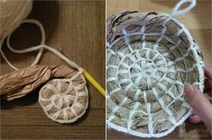 Upcycling - Schale aus Packpapier