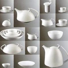 Walter Gropius tea set, manufactured by Rosenthal.  My parents gave me the teapot.