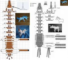 Схема плетения единорога из бисера --- UNICORNS!!
