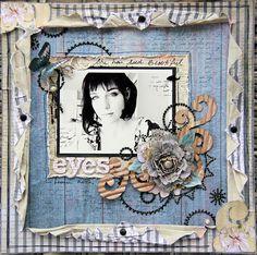 "Michelle Grant desiGns: ""Beautiful Eyes"" ~ Donna Salazar & Dimensional Bor..."