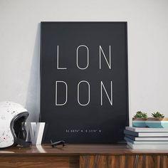 London Typography Print. Poster.