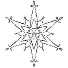 15 crochet snowflakes patterns- free patterns – Turcoaz cu Vanilie - Her Crochet Crochet Snowflake Pattern, Crochet Stars, Crochet Motifs, Christmas Crochet Patterns, Holiday Crochet, Crochet Snowflakes, Crochet Diagram, Thread Crochet, Filet Crochet