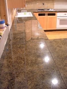 Granite Tile Counter - at < $10 sqft finished, it's a sweet deal!