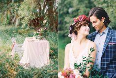 outdoor romantic weddings - photo by Milton Photography http://ruffledblog.com/blooming-wedding-inspiration