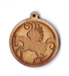 Pegasus in round frame 1 inch bead facing left EP Laser http://www.amazon.com/dp/B00A7X3WL4/ref=cm_sw_r_pi_dp_U4Mswb12AT7J7