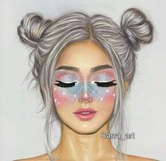 92 imagens sobre Girly_M no We Heart It Tumblr Drawings, Girly Drawings, Pretty Drawings Of Girls, Sarra Art, Dibujos Tumblr A Color, Best Friend Drawings, Cute Girl Drawing, Cute Girl Wallpaper, Digital Art Girl