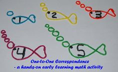 1-to-1 Correspondence - Created Fish Numbers and Oxygen Bubbles - Sensory Math