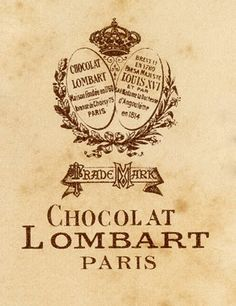 Free Printable ~  French Vintage Chocolate Label...Oui !