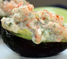 Shrimp-stuffed avocado.This is one of the easiest appetizers.It is also elegant and very delicious.
